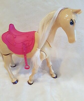 Barbie pony horse  Rider Walking Tawny  Horse toy new