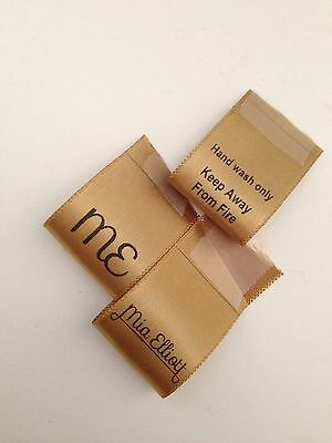 Handmade Labels Care Branding Tags Printed Ribbon Designed For You