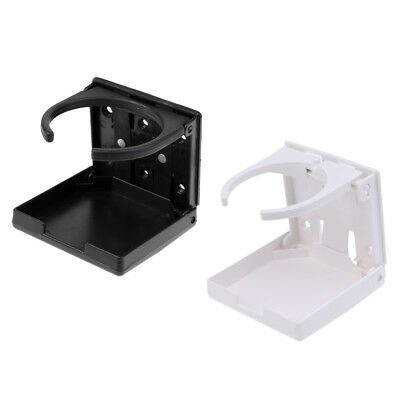 2Pcs Folding Drink Cup Holder Vertical Mount for Marine Boat Yacht Car Truck