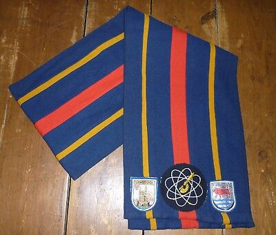 College Scarf - Oxford - Cambridge - Science Department - Vintage - England Made
