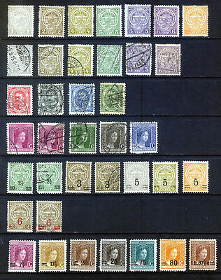 LUXEMBOURG 1906 - 16 ISSUES: 38 STAMPS MINT & USED EXAMPLES: see Scan