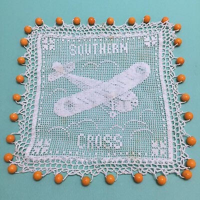 Old Southern Cross Plane Beaded Lace Milk Jug Cover Charles Kingsford Smith