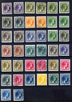 Luxembourg 1926 Grand Duchess Charlotte Issue : 38 Stamps Mint & Used