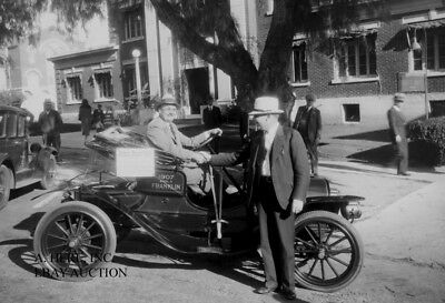 Franklin 1907 Automobile press photo publicity photograph