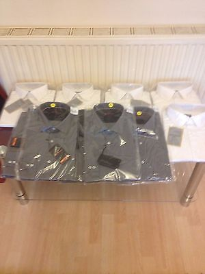 Joblot 10X Men Shirts 100% Cotton,bensherman And Sateeni London (Original)