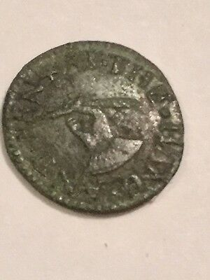 Mid 17th Century UK Farthing Token. At The Hand And Pen,extremely Rare!