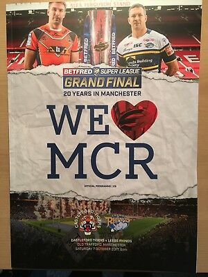 Super League Rugby final Programme