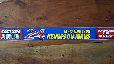 *rare* 1990 Le Mans 24 Hours Official Aco Year Sticker 24 Heuers Du Mans 90 Wec