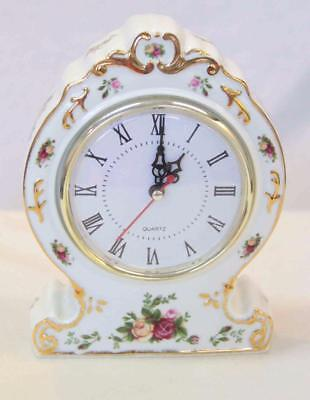 Royal Albert 'Old Country Roses' Mantle Victorian Clock #13239