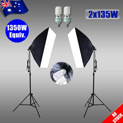 1350W Photo Studio Softbox Lighting Video Soft Box Continuous Light Stand Kit AU