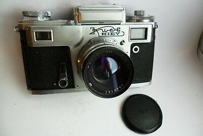 Kiev 4 35mm Contax-styled classic Soviet rangefinder camera and case GWO