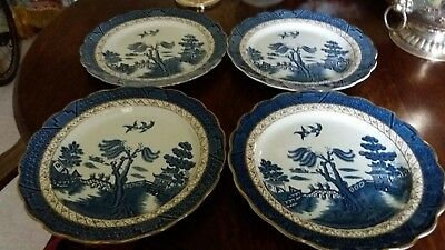 real old willow a8025 4 dinner plates