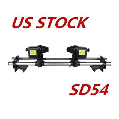 """110V 54"""" Automatic Media Take up Reel SD54 Two Motor for Mutoh / Mimaki / Roland"""