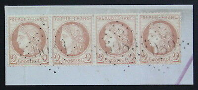 Palestine 1871/5, 2c Strip of 4 Stamps With Jaffa 5089 Pmk, Cutout #a1749