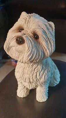 White W high terrier Sandicast handcast and handpainted by S.Brue USA
