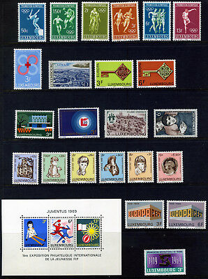 Luxembourg 1968- 69 Unmounted Mint/ Mnh Collection Of 26 Stamps: Some Sets