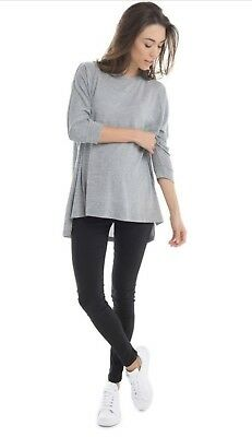 BAE The Label Maternity Top Grey EEUC Very generous flattering comfy fit XS S