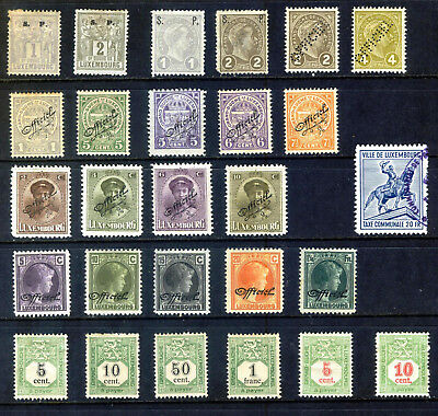 Luxembourg Officials & Postage Dues From 1882 : 27 Stamps Mounted Mint