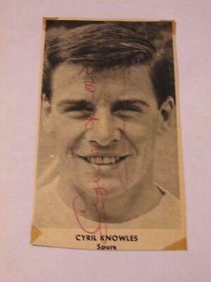 Cyril Knowles signed b&w picture Tottenham Hotspur Spurs & Middlesborough
