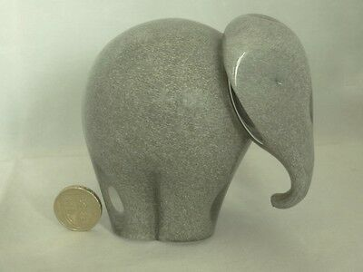 Wedgwood Glass Mottled Grey Elephant Paperweight-marked
