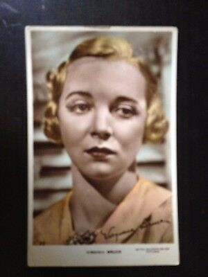 Virginia Bruce - Hollywood Actress  - Vintage Postcard - Excellent Cond.