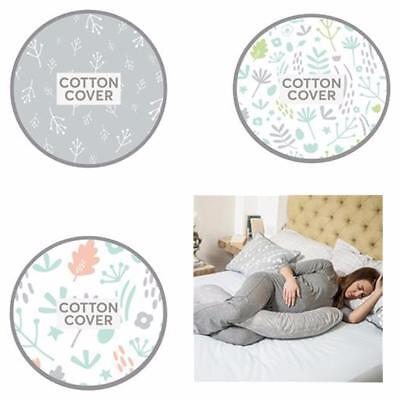 Dreamgenii Pregnancy Pillow Woodlands Multi/Floral Grey/ Nature Grey Green