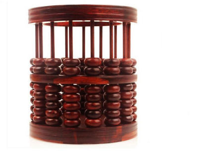 real Rosewood Wood carvings abacus Pen holder handwork crafts Office
