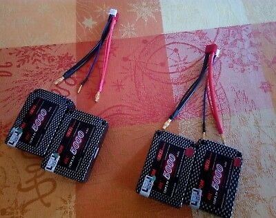 2 Lipo saddle batteries kypom 2s 40c 5000mah
