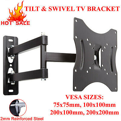 "Full Motion Tv Wall Mount Swivel Bracket 14 24 26 28 32 42"" Led Lcd Flat Screen"