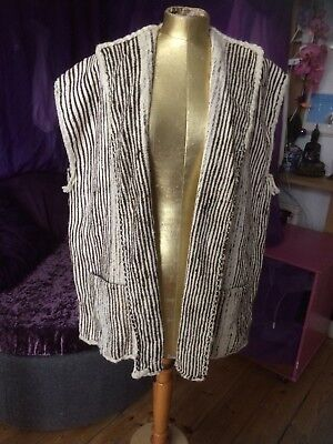 Sharrow hand spun hand woven tunic blanket coat L XL nwot