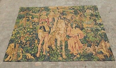 French Beautiful Medieval Tapestry 188x128cm (A1285)