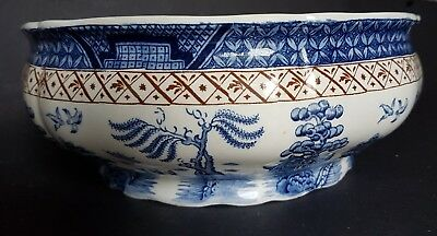 Vintage Booth's Real Old Willow Blue & White Pattern A 8025 Large Serving Bowl