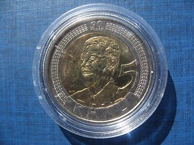 South Africa 5 Rands 2008, Nelson Mandela's 90th Birthday in a capsule.