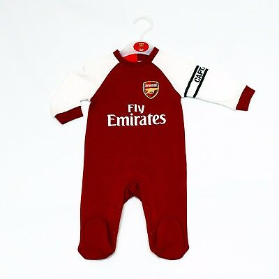 Arsenal Fc Babygrow Bodysuit/sleepsuit Official Product 2017/18
