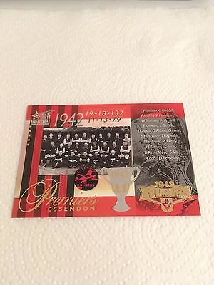 2011 AFL Select Infinity 1942 Premiership Commemorative Card - PC66 Essendon