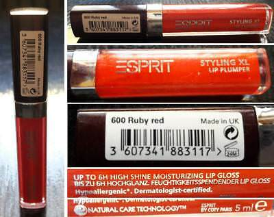 ESPRIT Styling XL Lip Plumper, Ruby Red Lip Gloss, 5 ml, neu