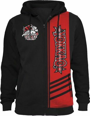 Yokkao Extreme Fight Team 2.0 Black/red Muay Thai Boxing Hoodie