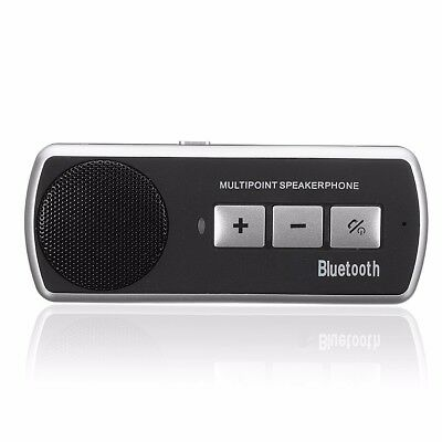Wireless Bluetooth Car Kit Hands Free Speaker Phone Visor Clip For iOS Android
