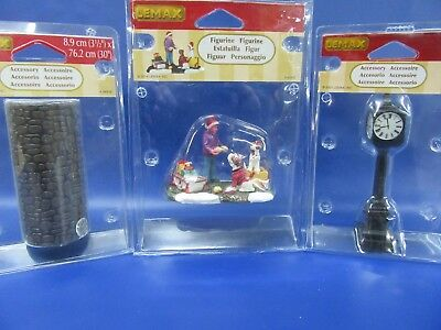 Lemax Christmas Figurines - Three Sets - Lemax Christmas Village - Brand New