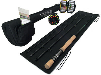 Wild Water Complete 7/8 Fly Fishing Starter Package for Freshwater