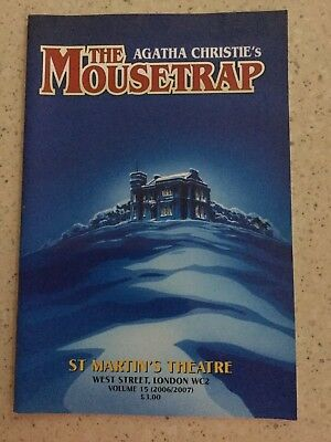 Agatha Christie's The Mousetrap St Martin's Theatre souvenir booklet 2006/2007