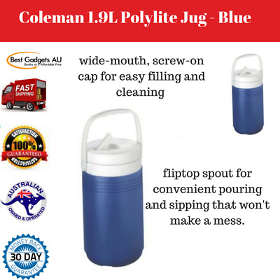 1.9L Polylite Blue Coleman Jug Outdoor Camping Portable Water Cooler Carrier NEW