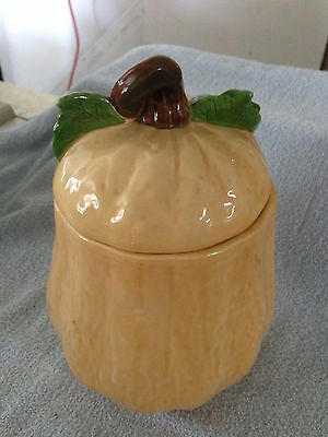 1990 Pottery Butternut Squash Gourd Cookie Jar