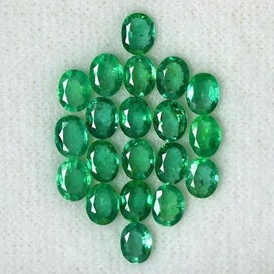6.11 Cts Natural Top Green Emerald Gemstone Oval Cut Lot Untreated Zambia 5x4 mm