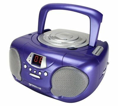 Groove Boombox Portable CD player with Radio