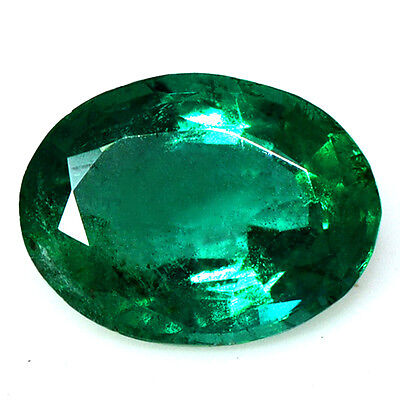 1.60 Cts Natural Top Fine Gemstone Rich Green Emerald Oval Cut Untreated Zambia