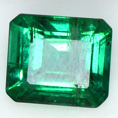 1.80 Cts Natural Fine Gemstone Rich Green Emerald Octagon Cut Untreated Zambia