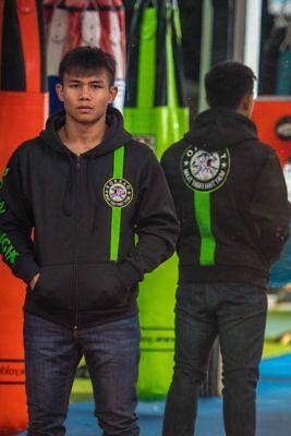 Yokkao Extreme Fight Team 2.0 Black/green Muay Thai Boxing Hoodie