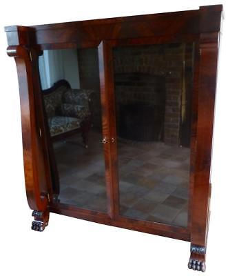 Antique Victorian Mahogany Glazed Bookcase or Display Cabinet
