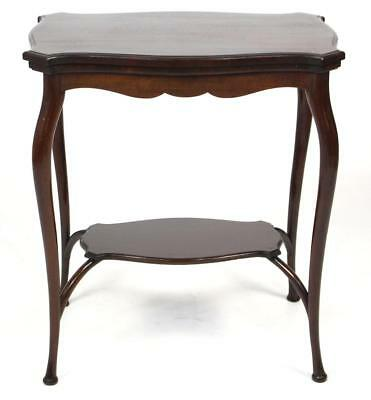Antique Edwardian Mahogany Serpentine Card Table - Games Hall Side Table